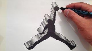 Video How to Draw the Air Jordan Logo in 3D download MP3, 3GP, MP4, WEBM, AVI, FLV Agustus 2018