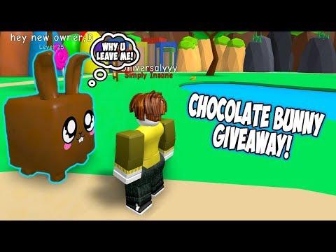 CHOCOLATE BUNNY GIVEAWAY! - BUBBLE GUM SIMULATOR