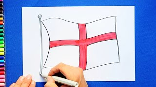 How to draw and color the Flag of England