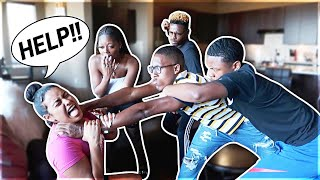 Abusive Boyfriend Prank In Front Of Company....Gets Real! **Must Watch**