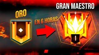 DE ORO A TOP GLOBAL 1 EN SOLO 6 HORAS FREE FIRE !!