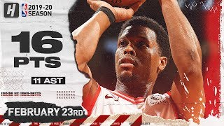 Kyle Lowry 16 Pts 11 Ast Full Highlights   Pacers vs Raptors   February 23, 2020