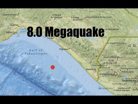 BREAKING: 8.0 Megaquake strikes near coastal Guatemala/Mexico!