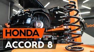 Cum se înlocuiește arc de suspensie din față pe HONDA ACCORD 8 (CU2) [TUTORIAL AUTODOC]