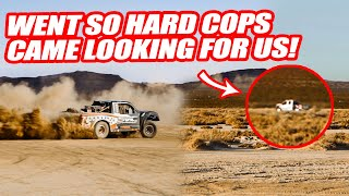 RACING SUPERCARS IN THE DESERT AT 100+MPH  W/ A $750K RAPTOR TROPHY TRUCK!