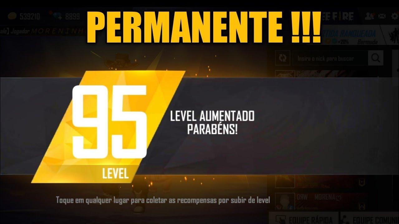 Download Nível 95 FreeFire   Recompensa foi Permanente