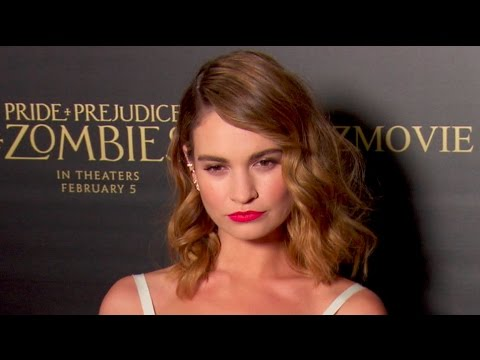 Lily James & Lena Headey at the Pride and Prejudice and Zombies Premiere