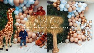 Baby's First Birthday 'Wild One' | DIY SAFARI PARTY PREP WITH ME, FOOD, DECOR, CAKE MAKING + MORE