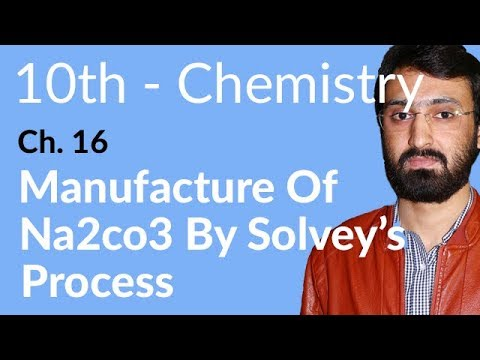 10th Class Chemistry ch 16,Manufacture of Na2Co3 by Solvay's Process -Che Ch 16 Chemical Industries