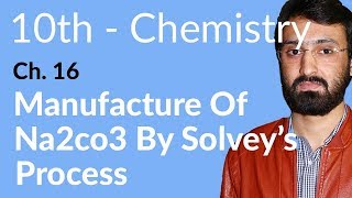 10th Class Chemistry, ch 16, Manufacture of Na2Co3 by Solvay's Process - Matric Class Chemistry