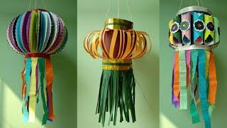 Last Minute Diwali Paper Lanterns (Aakash Kandil) Making | Diwali Special Craft | CRAFTSWOMAN