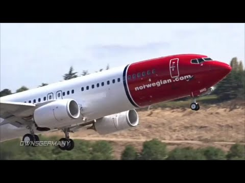 Test Flight of Norwegian LN-NHG Boeing 737-800 @ KBFI Boeing Field