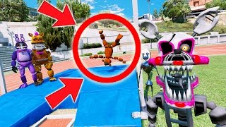 TRY NOT TO LAUGH AT WITHERED FREDDY! (GTA 5 Mods For Kids FNAF Funny Moments)