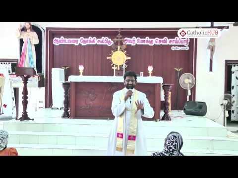 """Serve God with Thirst"" by Rev.Fr.Raphael VC @ Arulalayam, Ambattur,Chennai,TN,India 23-03-17"