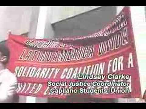 May 11th Extradite Posada to Venezuela Picket Action