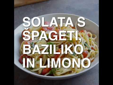 Solata s špageti, limono in baziliko bratov Šketa
