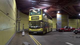 Citybus HK: TVB City bound Super Olympian/ALX500 252 Rt.628 leaving Tseung Kwan O MTR