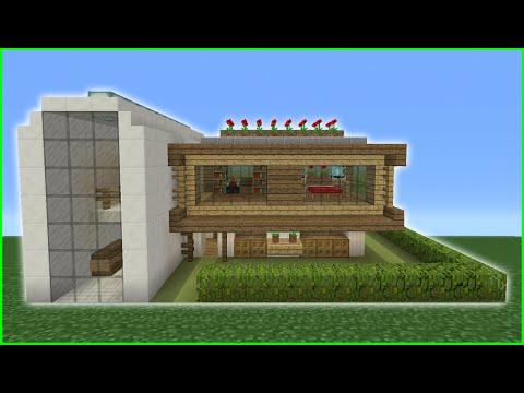 Minecraft Tutorial: How To Make A Modern Eco House