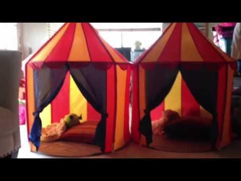 IKEA kids circus tent - YouTube