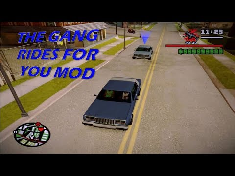 GTA San Andreas The Gang Rides For You CLEO Mod 2017 (NEW)