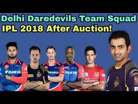 IPL 2018: Delhi Daredevils (DD) Team Squad After Auction| Cricket News Today