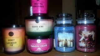 Home Goods & T.J. Maxx Candle Haul