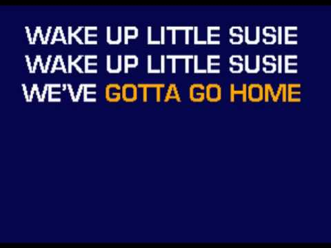 Everly Brothers - Wake Up Little Susie karaoke