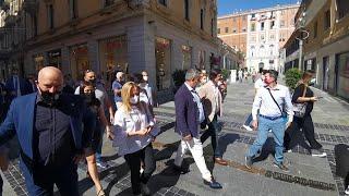Giorgia Meloni a Sanremo per la campagna elettorale
