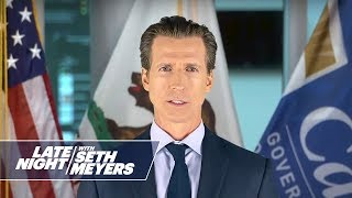Gov. Gavin Newsom (Josh Meyers) Talks with Matthew McConaughey (Josh Meyers)