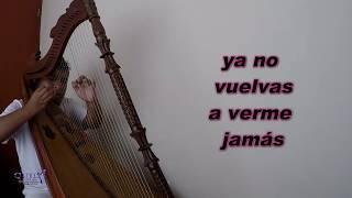 COBARDE - DINA PAUCAR - Karaoke Acústico - Arpa Quilder Rodriguez