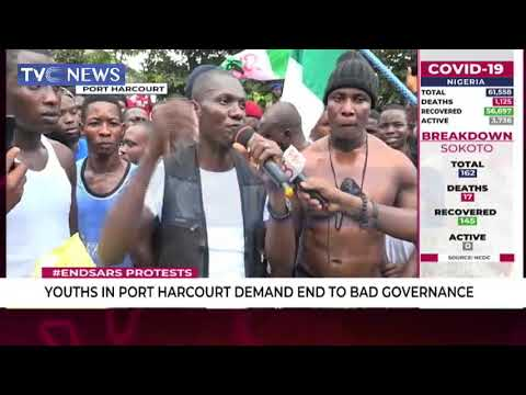 #EndSARS: Youth In Port Harcourt Demand End To Bad Governance