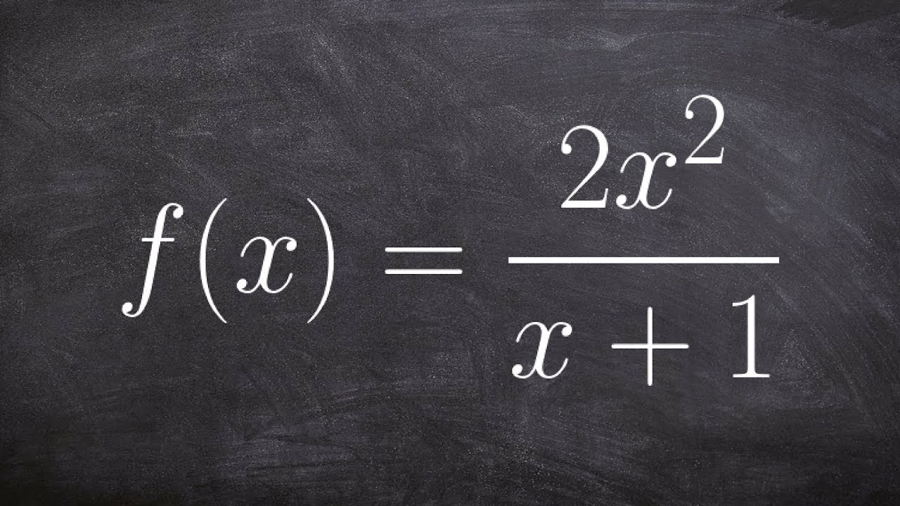 Identify Any Horizontal Or Vertical Asymptotes Of A Rational Function The  Domain And Range