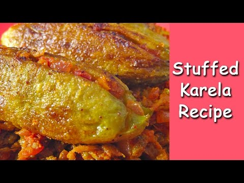 stuffed-karela-recipe-from-indian-cuisine-by-sameer-goyal-@-ekunji.com