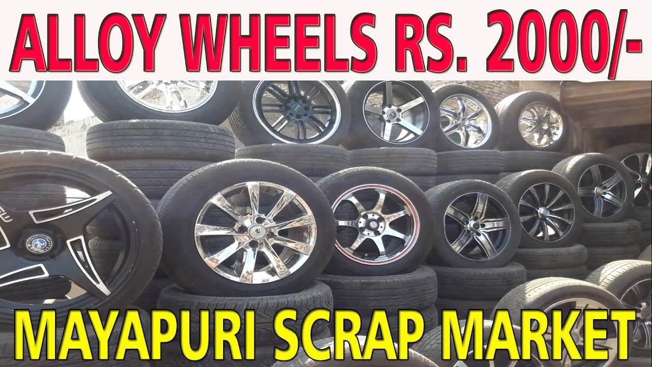 Mayapuri scrap market, allow wheels 2000rs, explored chep rates market  hemantzone vlog-12
