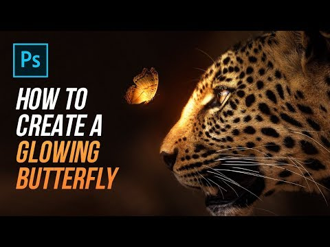 How To Create A Glowing Butterfly In Photoshop!