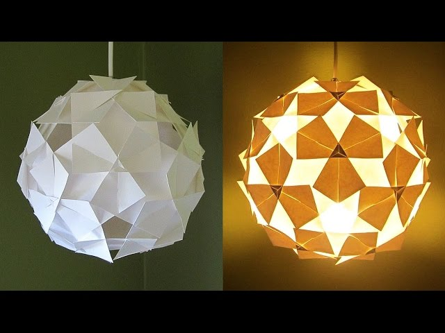 DIY Clover Lamp Made From Paper Squares