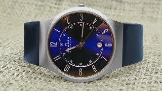 распаковка и краткий обзор часов Skagen Men's 233XXLSLN