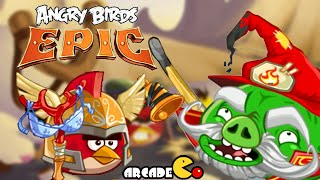 Angry Birds Epic: NEW FINAL Cave - CAVE 5 Burning Plain Level 1
