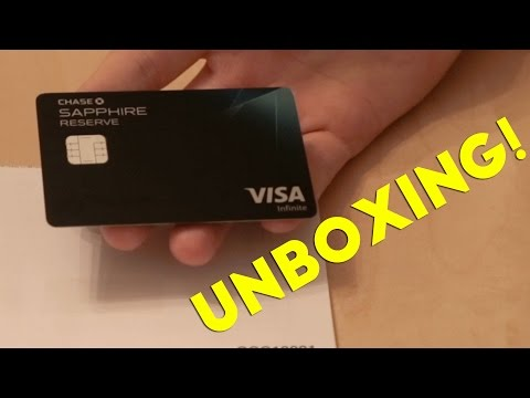 Chase Sapphire Reserve Unboxing