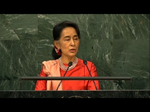 Aung San Suu Kyi addresses Rakhine state troubles at UN Assembly