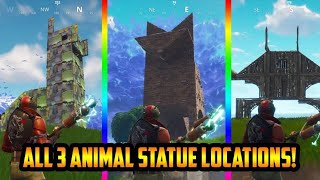 Llama, Fox, & Crab- Fortnite Battle Pass Season 3 Challenge Locations