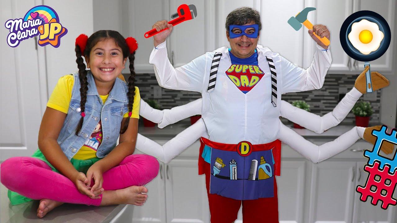 O super pai da Maria Clara e JP ♥ A funny story of a super dad