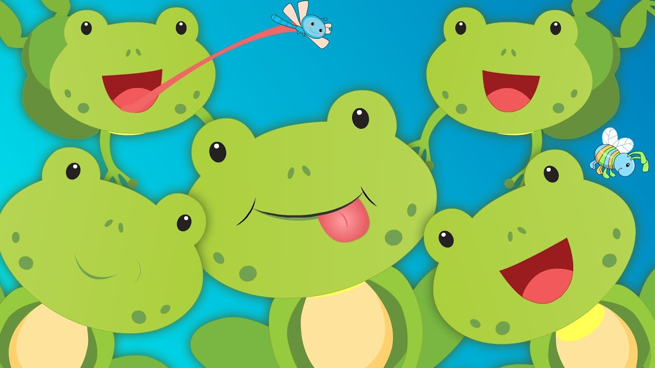 Five Little Speckled Frogs 🐸🐸🐸 | Nursery Rhyme With Lyrics ...
