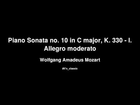 Sonata No  10 in C Major, K 330: Allegro moderato lyrics