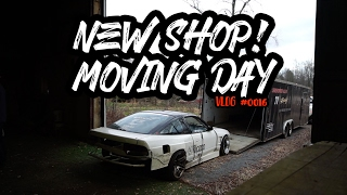 WE MOVED INTO OUR DREAM GARAGE !!! TRANSPORTING THE DRIFT 240SX