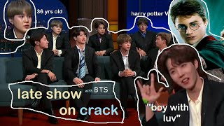 Cover images the late late show with bts on crack.