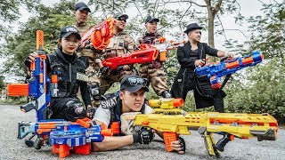LTT Nerf War : Captain SEAL X Warriors Nerf Guns Fight Crime Group Dr Lee One Eye