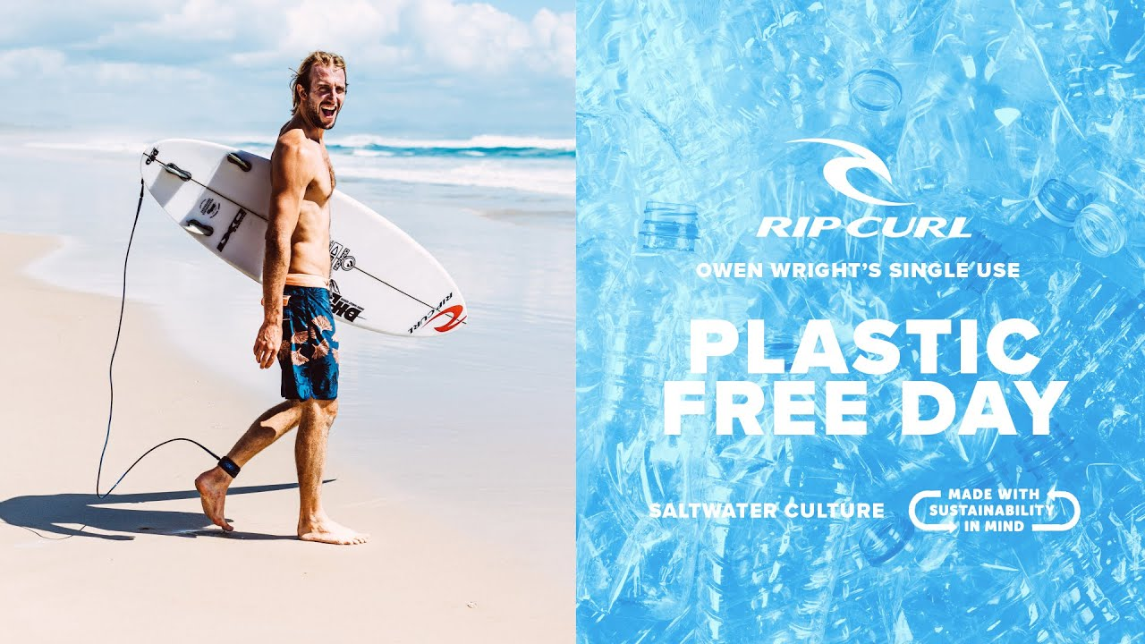 Owen Wright's Plastic Free Day | Mirage Saltwater Culture Boardshorts | Rip Curl