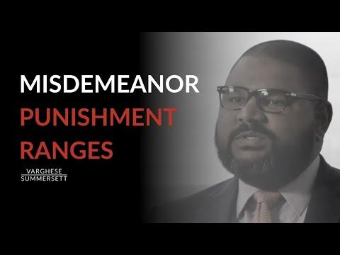 Misdemeanors in Texas