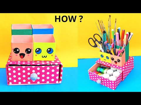 DIY Desk Organizer with Pen Stand | Best out of waste | Space Saving Craft idea